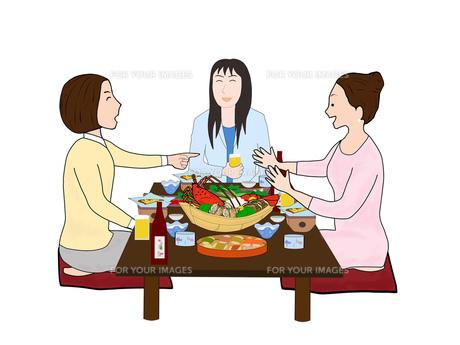 女子会で宴会の素材 [FYI00280372]