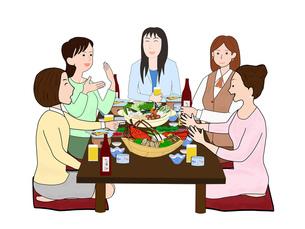 女子会で宴会の素材 [FYI00280379]