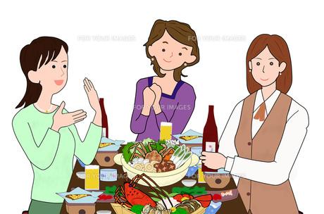 女子会で宴会の素材 [FYI00280384]