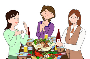 女子会で宴会の写真素材 [FYI00280384]