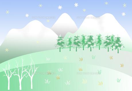 冬の雪景色の写真素材 [FYI00280390]