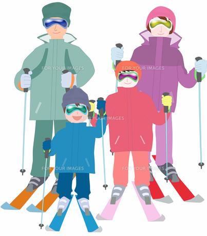 家族でスキーの素材 [FYI00280396]