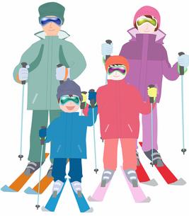 家族でスキーの写真素材 [FYI00280396]