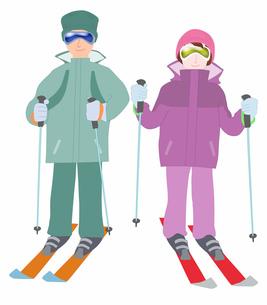 カップルでスキーの写真素材 [FYI00280397]