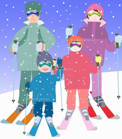 家族でスキーの素材 [FYI00280399]