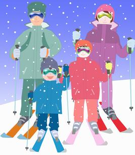 家族でスキーの写真素材 [FYI00280399]