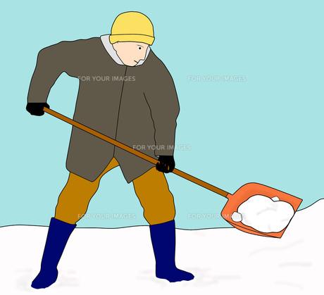 雪かき作業の素材 [FYI00280401]