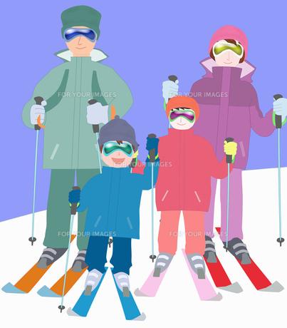 家族でスキーの素材 [FYI00280403]
