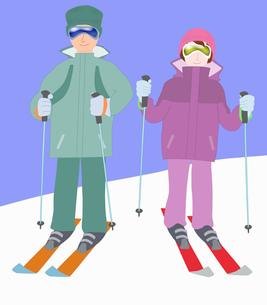 カップルでスキーの素材 [FYI00280410]
