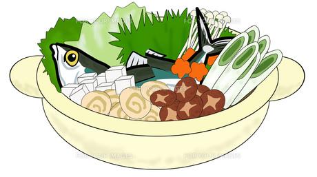 魚の鍋料理の写真素材 [FYI00280412]