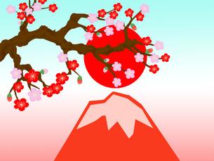 梅と赤富士の写真素材 [FYI00280440]