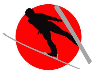 スキージャンプの写真素材 [FYI00280474]