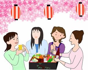 女子会で花見の写真素材 [FYI00280521]