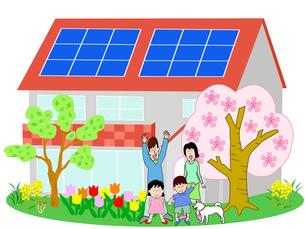 春のエコ住宅の写真素材 [FYI00280564]