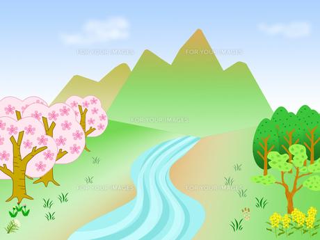 春の小川の素材 [FYI00280567]