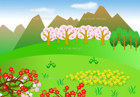 春の風景の素材 [FYI00280569]