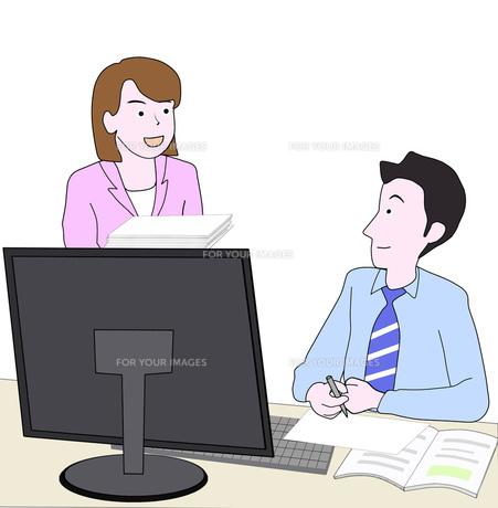 仕事中の男女の写真素材 [FYI00280575]