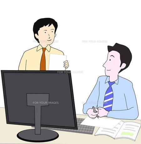 打ち合わせ中のビジネスマンの写真素材 [FYI00280579]