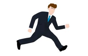 ビジネスマンが走るの写真素材 [FYI00280600]