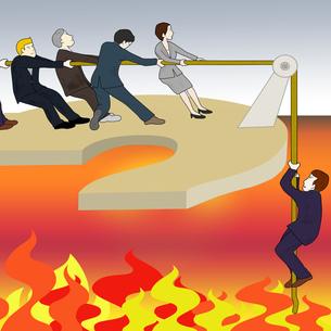ビジネスマンの危機の写真素材 [FYI00280601]