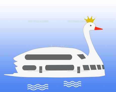 白鳥の遊覧船の写真素材 [FYI00280634]
