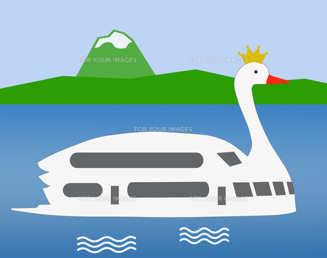 白鳥の遊覧船の素材 [FYI00280642]