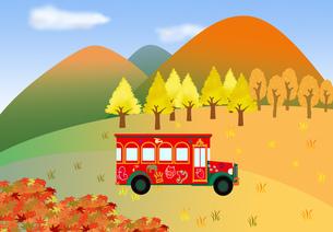 秋の遊覧バスの素材 [FYI00280646]