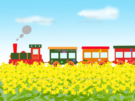 春のメルヘン列車の写真素材 [FYI00280648]