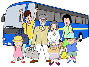 三世代でバス旅行の素材 [FYI00280651]