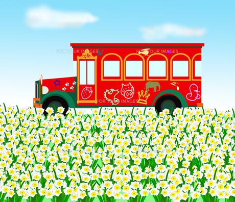 春の遊覧バスの素材 [FYI00280652]