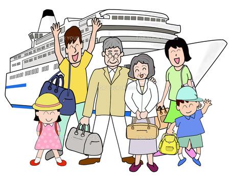 三世代で船旅の写真素材 [FYI00280653]