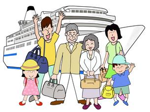 三世代で船旅の素材 [FYI00280653]