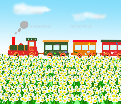 春のメルヘン列車の写真素材 [FYI00280654]