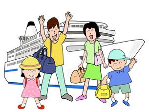 家族で船旅の素材 [FYI00280657]