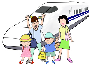 家族で新幹線の旅の素材 [FYI00280661]