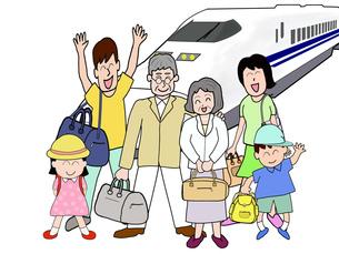 三世代で鉄道の旅の素材 [FYI00280664]