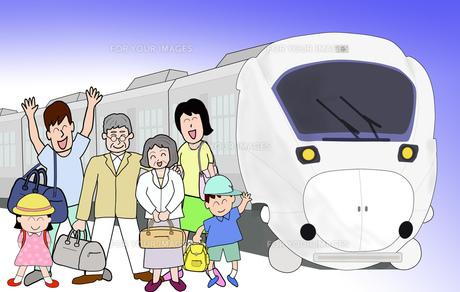 三世代で鉄道の旅の素材 [FYI00280667]