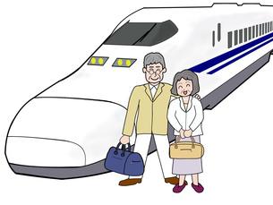 シニア夫婦の鉄道の旅の写真素材 [FYI00280669]