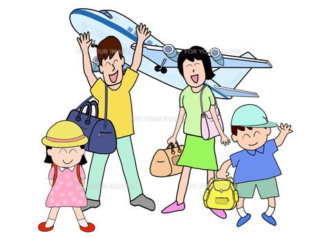 家族で空の旅の素材 [FYI00280671]