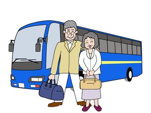 シニア夫婦のバス旅行の素材 [FYI00280672]