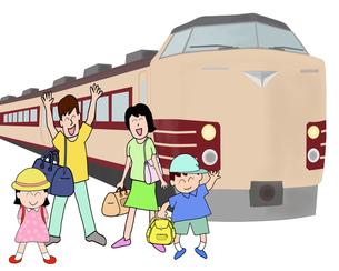 家族で鉄道の旅の素材 [FYI00280674]