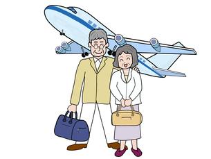 シニア夫婦の空の旅の素材 [FYI00280676]
