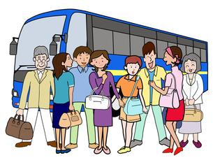 バスで団体旅行の素材 [FYI00280677]