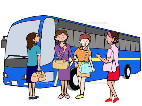 女子会でバス旅行の素材 [FYI00280679]
