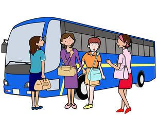 女子会でバス旅行の写真素材 [FYI00280679]