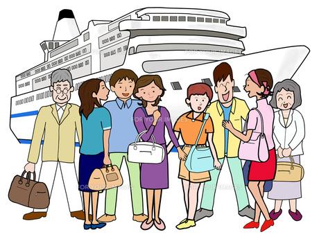 団体で船旅の素材 [FYI00280680]