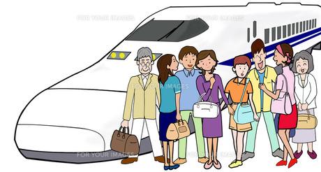 新幹線で団体旅行の素材 [FYI00280681]