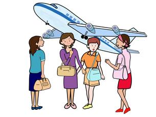 女子会で空の旅の素材 [FYI00280686]