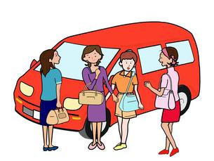 女子会でドライブ旅行の素材 [FYI00280690]