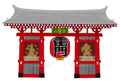 浅草寺の雷門の写真素材 [FYI00280706]